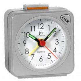 Lowell Justaminute JA7035S Quartz alarm clock Argento