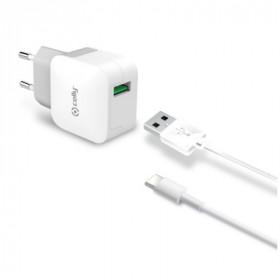 Celly TCUSBTYPEC Interno Bianco caricabatterie per cellulari e PDA