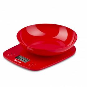 Girmi PS01 Bilancia da cucina elettronica Rosso Da tavolo Rotondo