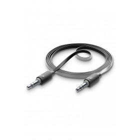 Cellularline Aux Music - Universale Cavo Aux antigroviglio per collegare lo smartphone all'autoradio Nero