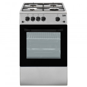 Beko CSS42014FS cucina Piano cottura Nero, Argento Gas B