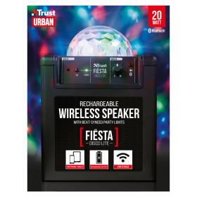 Trust Fiësta Disco Lite Stereo portable speaker 20W Nero