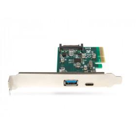 Hamlet Scheda Usb 3.1 PCI Express Type C+Type A trasferimento fino a 10 Gbps