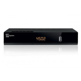 TELE System TS4502 S2 CI+ set-top box TV Satellite Full HD Nero