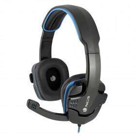 NGS GHX-505 auricolare per telefono cellulare Stereofonico Padiglione auricolare Nero, Blu Cablato