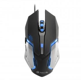 NGS GMX-100 mouse USB Ottico 2400 DPI Ambidestro Nero, Grigio
