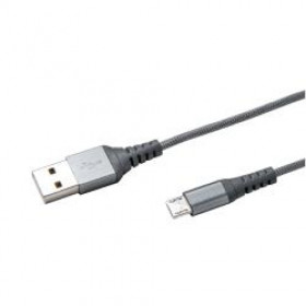 Celly Nylon Cavo USB2.0 to MicroUSB 1m Silver