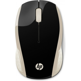 HP 200 RF Wireless Ambidestro Nero, Oro mouse