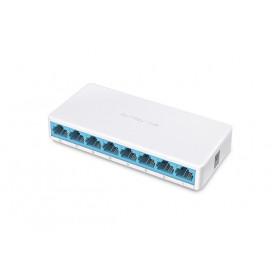 Mercusys MS108 switch di rete Gestito Fast Ethernet (10/100) Bianco