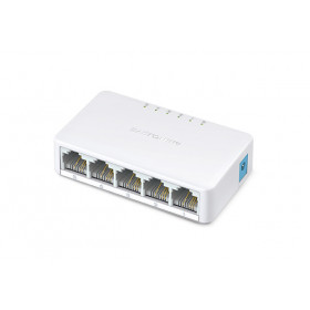 Mercusys MS105 switch di rete Fast Ethernet (10/100) Bianco