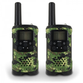 Atlantis Land Walkie Talkie - T48 8canali 446.00625 - 446.09375MHz Nero,