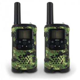 Atlantis Land Walkie Talkie - T48 8canali 446.00625 - 446.09375MHz Nero, Verde ricetrasmittente