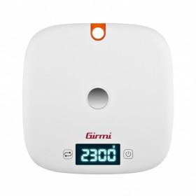 Girmi PS02 Bilancia da cucina elettronica Arancione, Bianco Da tavolo Rotondo