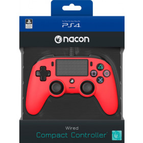 NACON Compact Controller Colour Edition Gamepad PlayStation 4 Rosso