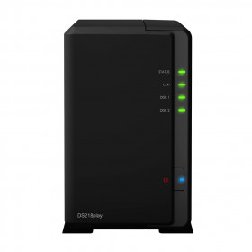 Synology DS218play NAS Compatta Collegamento ethernet LAN Nero