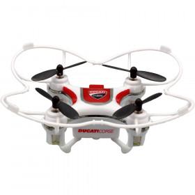 Dromocopter Ducati Corse 4rotori 120mAh Bianco drone fotocamera