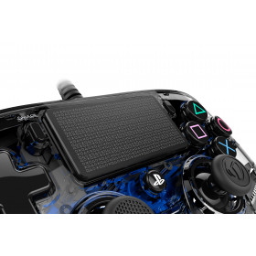 NACON PS4OFCPADCLBLUE periferica di gioco Gamepad PlayStation 4 Blu, Trasparente