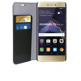 Phonix Custodia a Libro in Ecopelle per Huawei P8 Lite 2017 / Honor 8 Lite - Nera