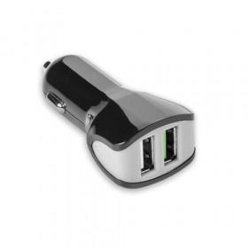 Celly CC2USBTURBOBK Caricabatterie per dispositivi mobili Auto Nero, Grigio
