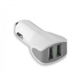 Celly CC2USBTURBOWH caricabatterie per cellulari e PDA Auto Bianco