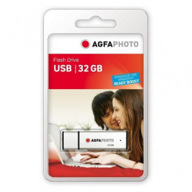 AgfaPhoto USB Flash Drive 2.0, 32GB unita flash USB USB tipo A Argento