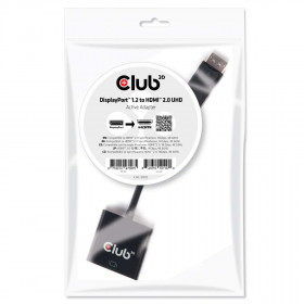 Club3D Adattatore DisplayPort 1.2 to HDMI 2.0 UHD 21cm Nero