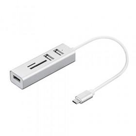 Nilox NX090301141 perno e concentratore USB 3.0 (3.1 Gen 1) Type-C Argento