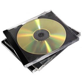 Fellowes 98307 custodia CD/DVD Custodia Jewel 2 dischi Nero, Trasparente