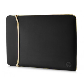 "HP Reversible Neoprene 15.6"" Custodia a tasca Nero, Oro"