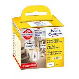 Avery Zweckform A1933084 etichetta autoadesiva Bianco Rettangolo con angoli arrotondati Permanente 400 pezzo(i)