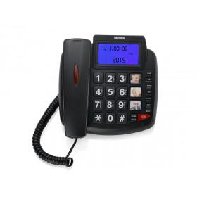 Brondi Bravo 90 Telefono analogico Identificatore di chiamata Nero