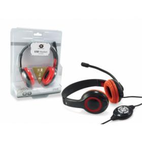 Conceptronic CCHATSTARU2R Stereofonico Padiglione auricolare Rosso cuffia e auricolare