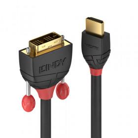 Lindy 36272 cavo e adattatore video 2 m HDMI tipo A (Standard) DVI-D Nero