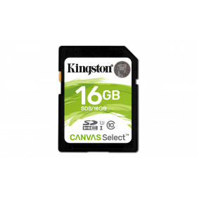 Kingston Technology Canvas Select 16GB SDHC UHS-I Classe 10 memoria flash