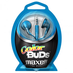 Maxell Colour Budz Headphones Blue Cuffia Blu