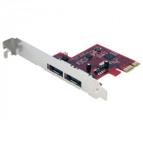 StarTech.com Scheda eSATA Controller PCI Express a 2 porte 6 Gbps, SATA