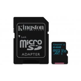 Kingston Technology Canvas Go! memoria flash 64 GB MicroSDXC Classe 10 UHS-I