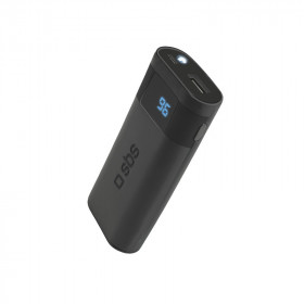 SBS TAGGY batteria portatile Nero Polimeri di litio (LiPo) 5000 mAh Carica wireless