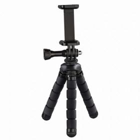Hama Flex treppiede Smartphone/Action camera 3 gamba/gambe Nero, Rosso