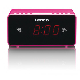 Lenco CR-510 radio Orologio Nero, Rosa