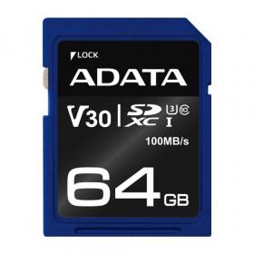 ADATA ASDX64GUI3V30S-R memoria flash 64 GB SDXC Classe 10 UHS-I