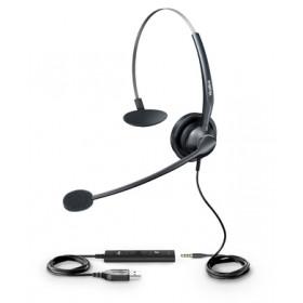 Yealink YHS33-USB auricolare Stereofonico Padiglione auricolare Nero