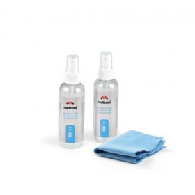 Meliconi C2x100 Spruzzo e panno asciutto per la pulizia dell'apparecchiatura LCD/LED/Plasma, LCD/TFT/Plasma, Notebook, Schermi/Plastiche 200 ml