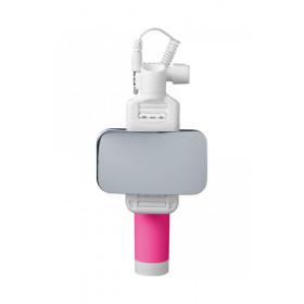 Cellularline Total View Smartphone Rosa, Bianco bastone per selfie