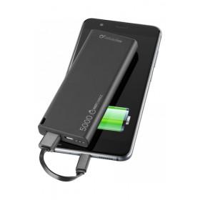 Cellularline FreePower Slim 5000 batteria portatile Nero Polimeri di litio (LiPo) 5000 mAh