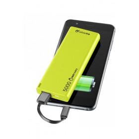 Cellularline FreePower Slim 5000 Polimeri di litio (LiPo) 5000mAh Verde batteria portatile