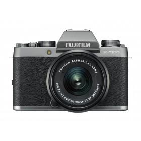 Fujifilm X T100 + XC 15-45mm F/3.5-5.6 OIS PZ MILC 24,2 MP CMOS 6000 x 4000 Pixel Argento