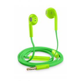 Cellularline Auricolari Slug Capsula Universali con Microfono Verdi