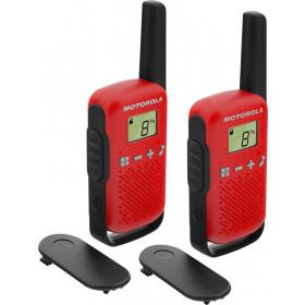 Motorola TALKABOUT T42 ricetrasmittente 16 canali Nero, Rosso