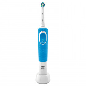 Oral-B Vitality 100 CrossAction Adulto Spazzolino rotante-oscillante Blu, Bianco
